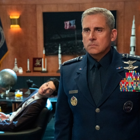 """Steve Carell as General Mark R. Naird in """"Space Force."""" (Photo courtesy of Netflix)"""
